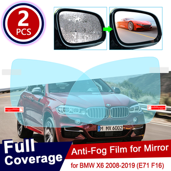 for BMW X6 2008~2019 E71 F16 Car Rearview Mirror Protective Film Anti Dazzle Waterproof Rainproof Anti Fog Car Sticker 2017 2018 image