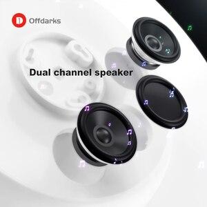 Image 4 - Plafonnier LED intelligent moderne 36W48W, télécommande APP RGB gradation Bluetooth haut parleur éclairage domestique plafonnier AC85V 265V