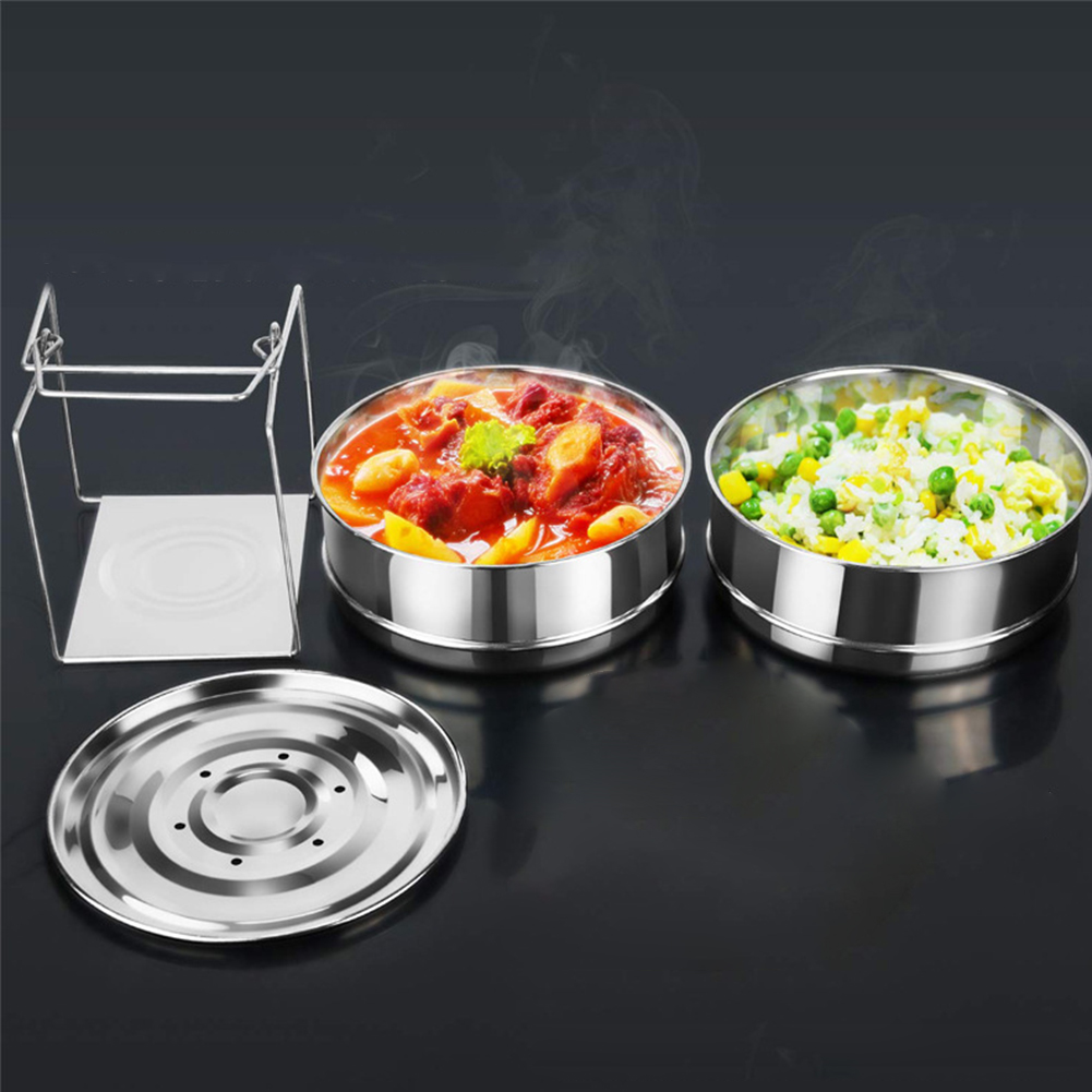 2 Layer Accessories Steamer Stainless Steel Baking Thicken With Handle Insert Pans Cookware Tool Kitchen Food With Lids Home