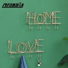 Настенные подвесные крючки для ключей с надписью «love» дома