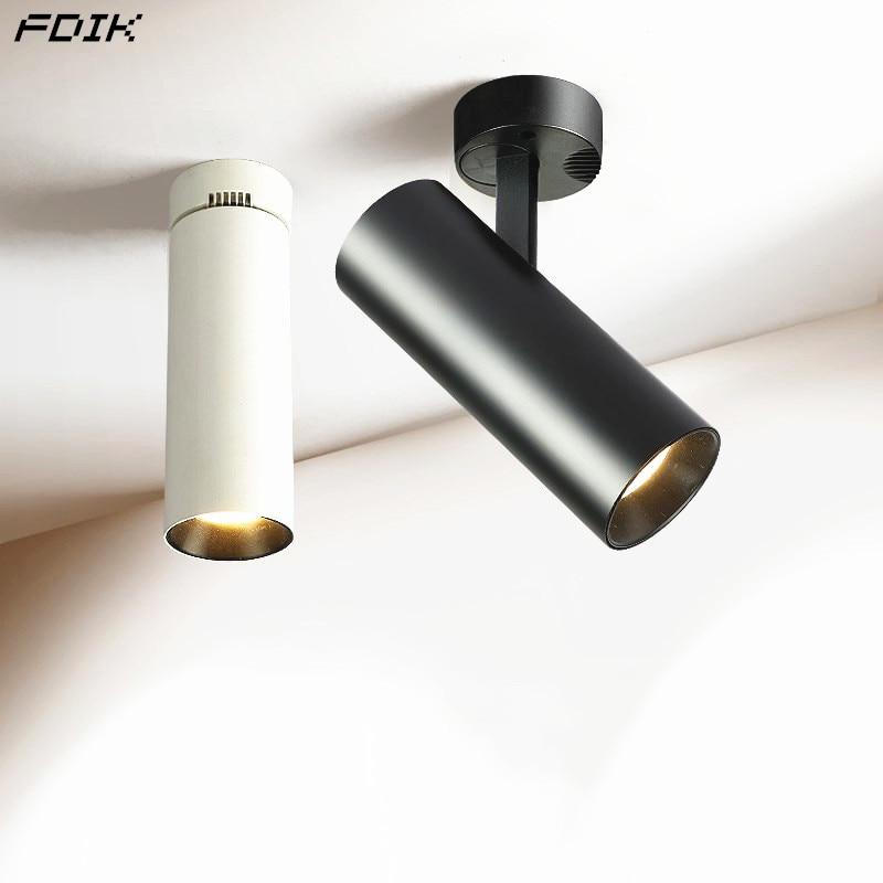Oberfläche Montiert COB LED Downlights Faltbare 360 ° Drehbare LED Decke Spot lichter 10W15W20W LED Lampen Hintergrund Beleuchtung