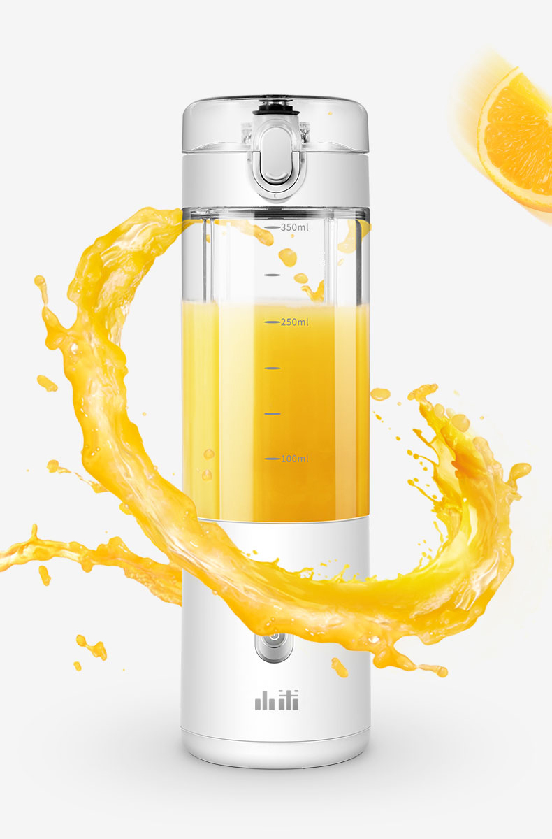 H2a59dc1254c246b2aa3d429e47a2b2ber Portable Fruit Cup Juicer Blender Electric Kitchen Mixer Food-Processor Smoothie 350ML Magnetic charging 30 Seconds Of Quick