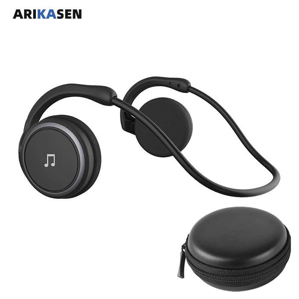 A6 Bluetooth 5.0 Headphones Sports Running Wireless Earphone comfortable 11 hours music Portable Bluetooth Headset with mic case 1