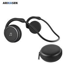 A6 bluetooth 5.0 fones de ouvido esportes correndo sem fio fone confortável 11 horas música portátil bluetooth fone com microfone caso