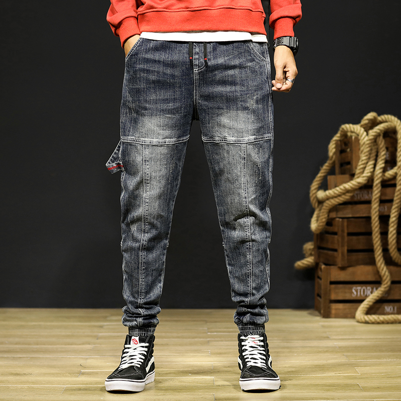 Mens Jeans Joggers Pants Fashion Desinger Baggy Tapered Loose-fit Streetwear Moto Jeans Casual Denim Jogger Pants Plus Size 42 11