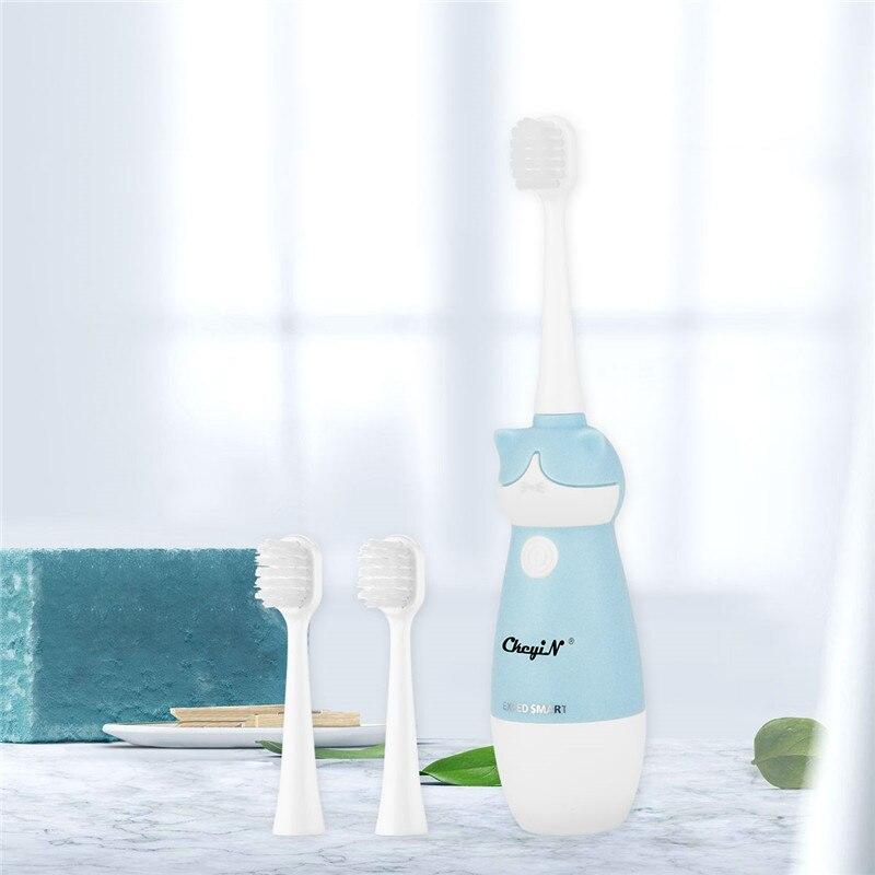 Стерео 3D вибрационная мультяшная электрическая зубная щетка для детей, глубокое очищение зубов, щетка для массажа полости рта, уход за зуба...