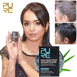 Darkening Shampoo for Gray Hair Bamboo Charcoal Detoxifying Foaming Solid Bar Black White Color Hair Treatment Oil Soap Shampoo