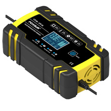 GKFLY Car-Battery-Charger 12V 8A 24V 4A Full Automatic Car Battery Charger Power Pulse Repair Chargers LCD Display