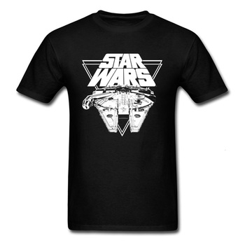 Midnite Star Millennium Falcon In Action 2019 T Shirt Aircraft Printed Star Wars Men Own Logo Custom Tops Tshirt 3D Cartoon custom made 3d printed star wars logo fondant cookie cutter set