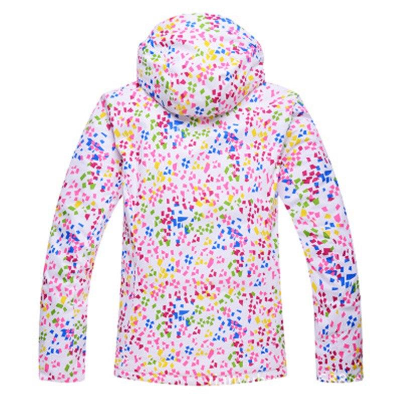 Nouveaux vêtements de ski pour femmes résistant à l'usure en plein air coupe-vent imperméable résistant au froid veste légère - 3
