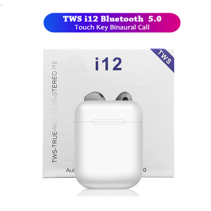 Original I12 Tws Wireless Bluetooth 5.0 Mini Earbuds Touch Control Earphones Headsets For Iphone Android Pk I10 I11 Fone Sem Fio