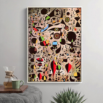 Joan Miro Abstract Paintings Printed on Canvas 3