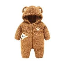 Детские комбинезоны для малышей осень зима Теплый Плюшевый комбинезон