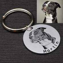 Personalized Dog Tag Custom Pet ID Tag with Photo Dog Collar Tag New Puppy Gift Dog Accessories  Collar Decoration
