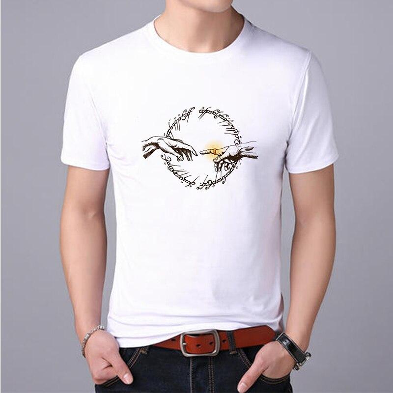 Lus Los el Señor de Los Anillos, Camiseta de cuello redondo de algodón camiseta hombres de moda clásica de manga corta Camiseta casual