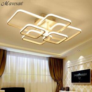 Image 3 - Акриловая Современная светодиодный ная Люстра для гостиной, спальни светодиодный ные люстры, большая Потолочная люстра, осветительные приборы AC85 260V