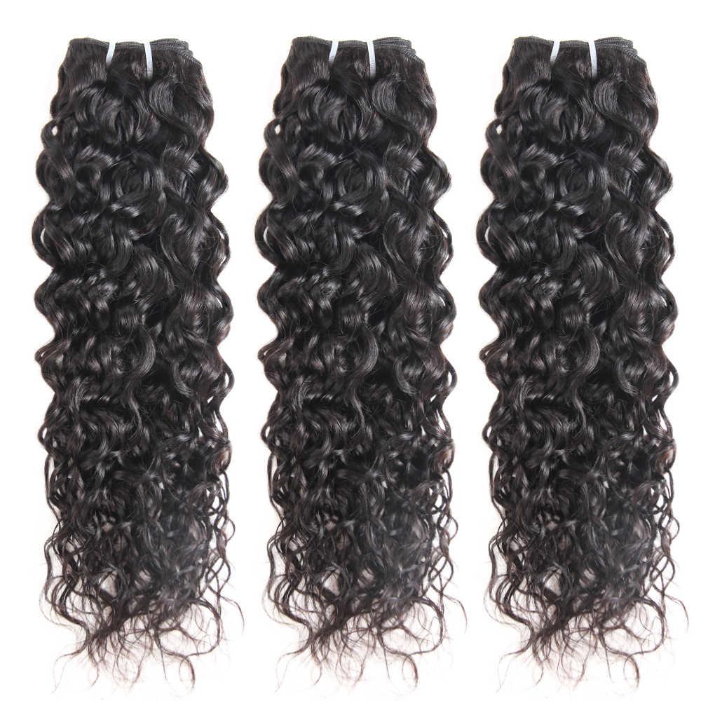 Superfect brezilyalı su dalgası demetleri 8-28 uzun saç postişi uzatma 1/3/4 adet Remy saç örgü demeti fırsatlar doğal renk