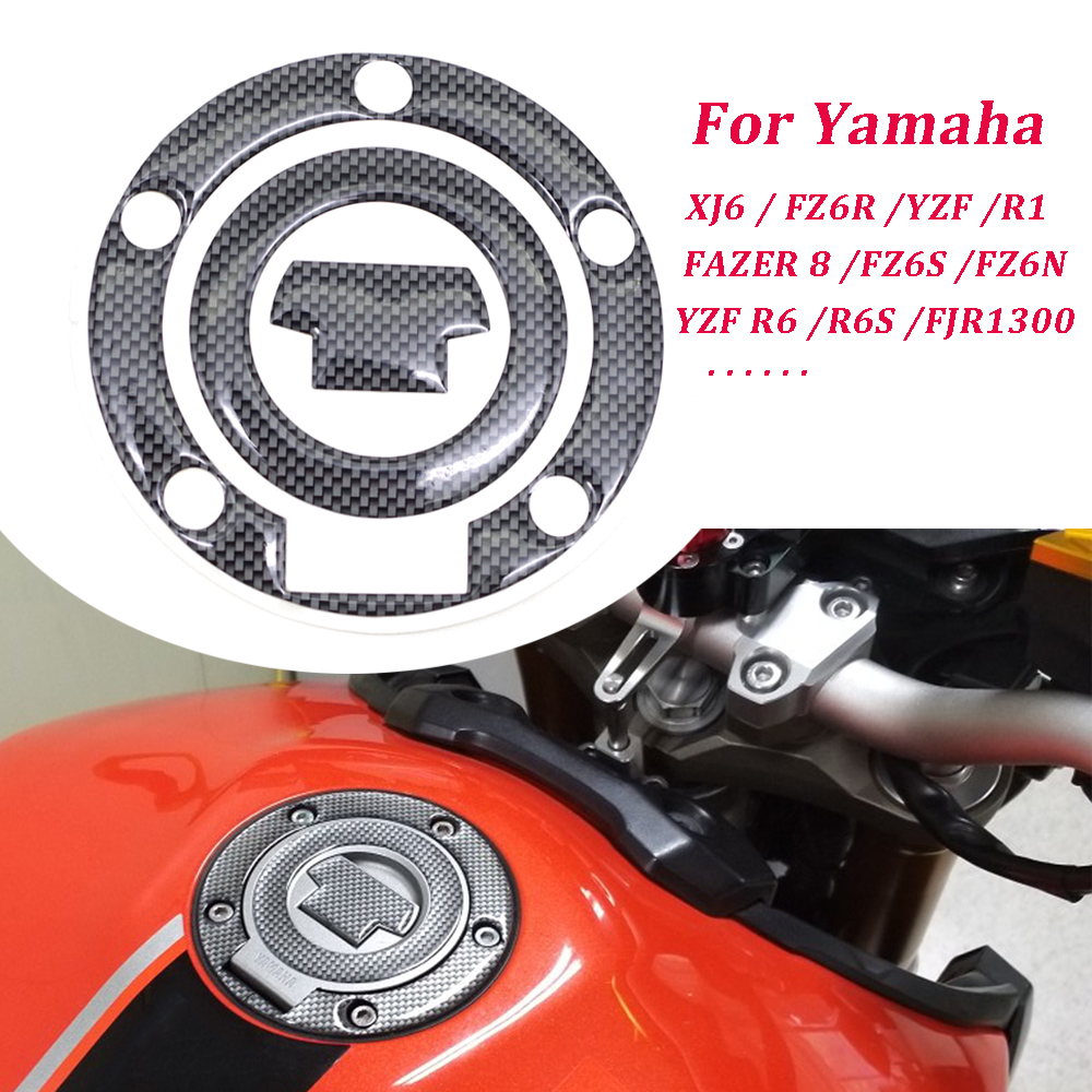 Carbon Motorcycle Fuel Gas Tank Cap Cover Pad Sticker Protector For YAMAHA YZF R1 2002 2003 2004 2005 -2011 R6 FZ6S FZ6N FZ6R