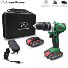 Battery Hammer-Drill Cordless Power-Tools Electric-Screwdriver Home Diy 20V 3modes-25--1