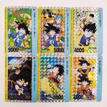 6 sztuk zestaw PP karty Dragon Ball Z Super Saiyan Goku Vegeta zabawki Hobby Hobby kolekcje gry kolekcja Anime karty tanie i dobre opinie SONGYI CN (pochodzenie) 14 lat i więcej 5-7 lat Dorośli