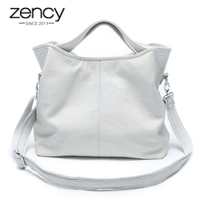Zency Wholesale Fashion Women Handbag 100% Genuine Leather Ladies Casual Tote Bag Charm Shoulder Messenger Classic Satchel Purse
