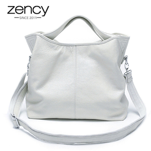 Image 1 - Zency Wholesale Fashion Women Handbag 100% Genuine Leather Ladies Casual Tote Bag Charm Shoulder Messenger Classic Satchel Purse