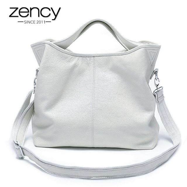 Zency Wholesale Fashion Women Handbag 100% Genuine Leather Ladies Casual Tote Bag Charm Shoulder Messenger Classic Satchel Purse