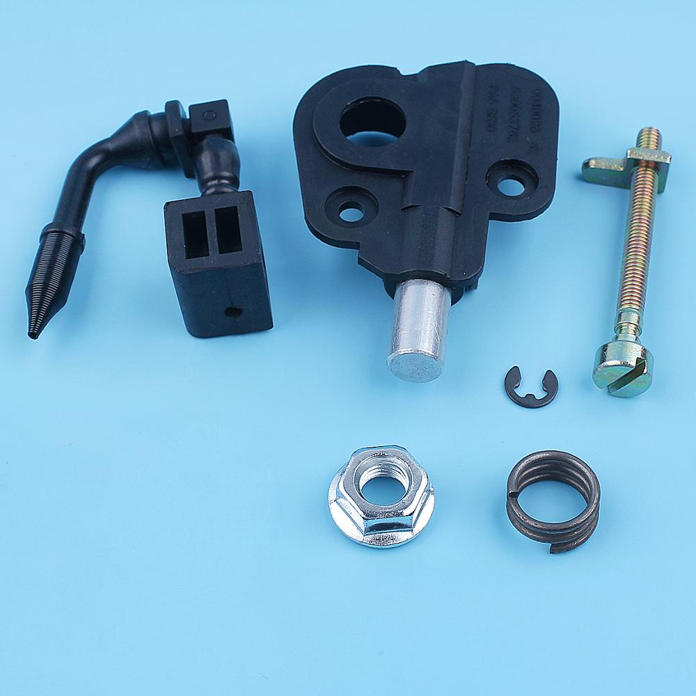 Oil Pump Worm Gear Chain Tensioner Adjuster Kit For Jonsered 2035 CS2137 CS2138 CS 2137 2138 Chainsaw Bar Nut Replacement Parts