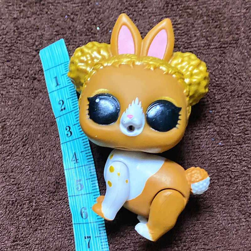 L.O.L. مفاجأة! اختيار 1 قطعة الحيوانات الأليفة ل لول شقيقة دمية قرد الكلب القط الأرنب 3-6 سنتيمتر كبيرة وصغيرة الحيوانات الأليفة دمى لعبة طفل هدية
