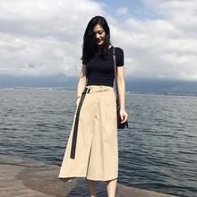 D Women\'s Sets New Design Elegant Summer Solid O-Neck Short Sleeve/Sleeveless T-Shirt+Belted Long Skirt 2 Pieces Set недорого
