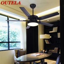 OUTELA Modern Ceiling Fans With Lights Kit Remote Control 3 Colors LED Modern Home Decorative for Rooms Dining Room Bedroom cheap OUFULA CN(Origin) iron 6521 3 year warranty