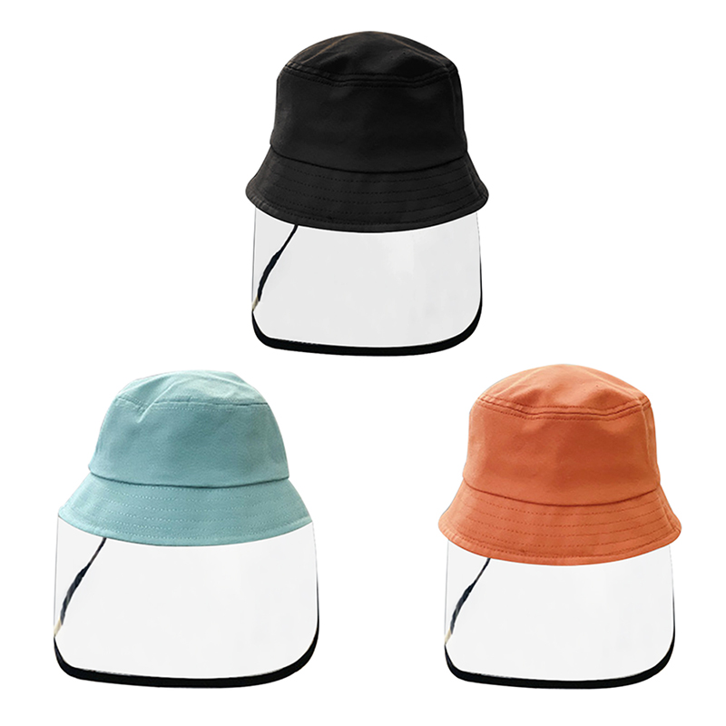 Multifunctional Bucket Hat Fisherman Cap Kids Anti-Dust Anti-spitting Anti-fog Droplets Cover Full Face Children Protective Hat