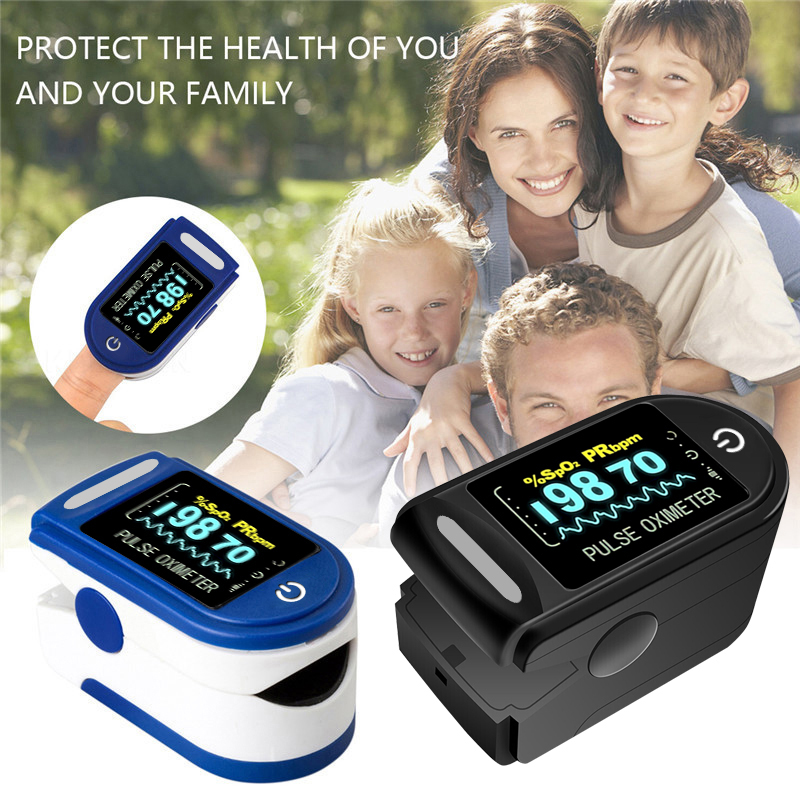 Пульсоксиметр Пальчиковый портативный, прибор для измерения пульса и уровня кислорода в крови, SPO2