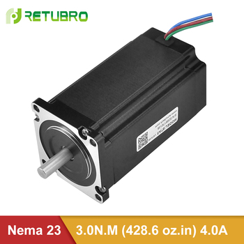 Stepper Motor Nema 23 57A3 Full tested / 1 year warranty  4-wire 3NM open loop hybrid stepper motor 4a for cnc machine pcb engraving machine nema 23 cnc stepper motor 3nm 3a 57 76 4 wires for cutting lather