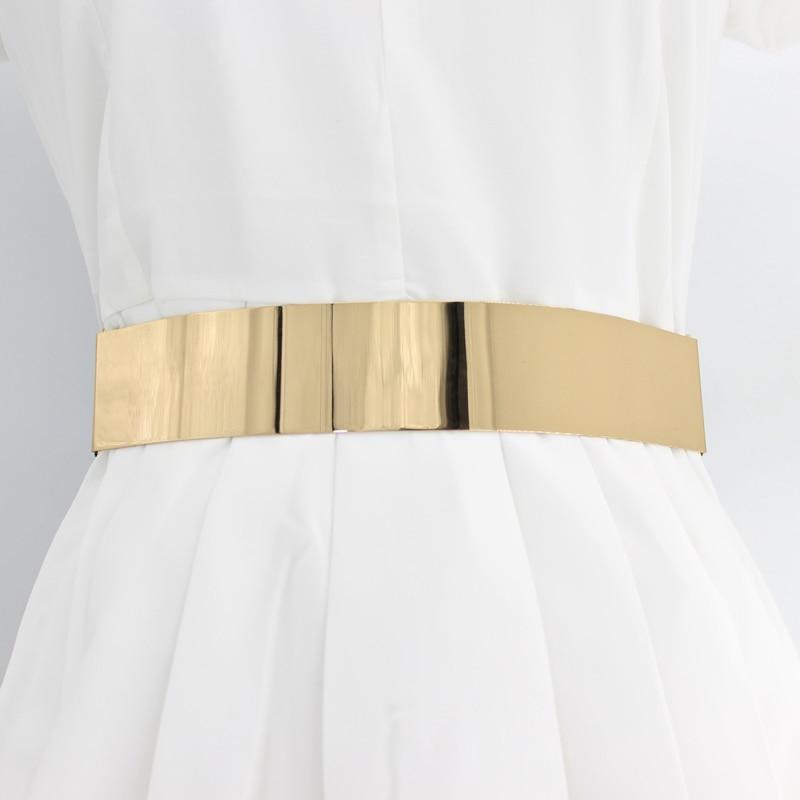 Hot Designer Belts For Woman Gold Silver Brand Belt Classy Elastic Corset Ceinture Femme Cummerbund Ladies Apparel Accessory