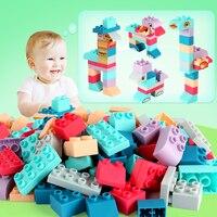 Big Size Diy Zachte Compatibel Duploed Bouwstenen 3D Touch Hand Zachte Blokken Rubber Baby Speelgoed Bouwstenen Speelgoed Voor kinderen