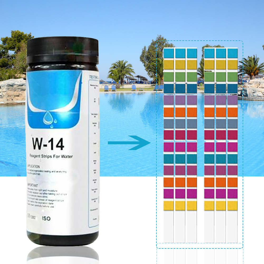 Test-Strips Water-Hardness-Accessories Swimming-Pool Metal 14-In-1 100pcs-Tool Alkalinity