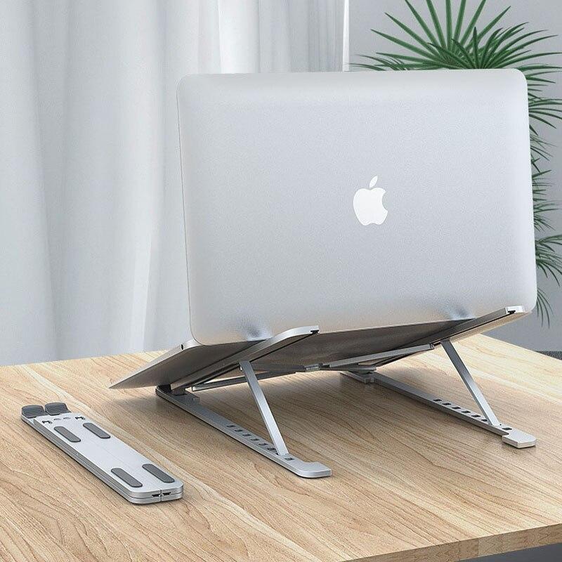 Купить подставка для ноутбука 8 углов алюминиевая регулируемая складная