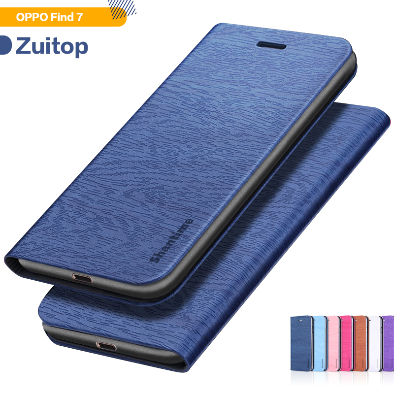 Wood grain PU Leather Phone <font><b>Case</b></font> For <font><b>OPPO</b></font> <font><b>Find</b></font> <font><b>7</b></font> X9007 Flip <font><b>Case</b></font> For <font><b>OPPO</b></font> <font><b>Find</b></font> 7a Business Wallet <font><b>Case</b></font> Soft Silicone Back Cover image