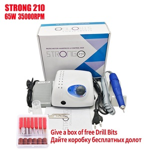 New Arrival 65W 35000RPM Electric Nail Drill Machine Strong 210 105L Model Manicure Pedicure Nail File Bit Nail Art Equipment