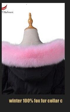 Женский шарф, зимнее пальто, шейный платок, длинный теплый шарф из натурального меха, натуральный Лисий мех, воротник 75 10