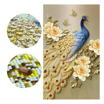5d diy diamond painting peacock beauty Special round Diamond Embroidery Painting Cross Diamond Mosaic for Home Decor