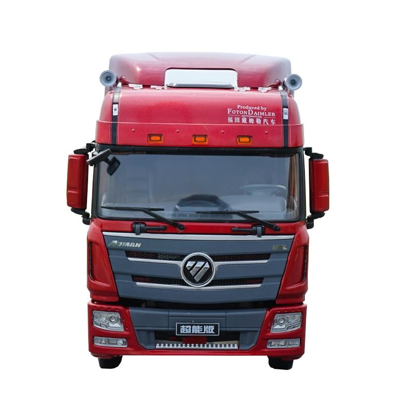 Foton Auman NZG 1:24 Heavy Machinery Truck Daimler Trailer Die-cast Alloy Engineering Truck Trailer Model Collection Gift Displa