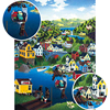 Wooden Toys European Unique Town Scenery Original Watercolor Painting Adult Puzzle Children Gift Educational Toys