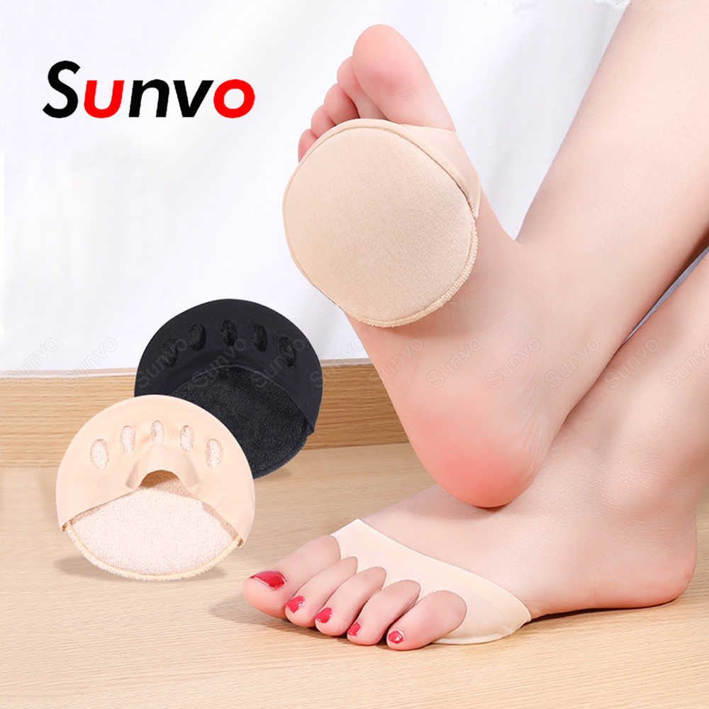 Flannel Two-in-one Five-toe Seven-point Pad Lady High Heels Insole Self-Adhesive