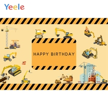 Yeele Photozone for Baby Tractor Excavator Child Birthday Party Photography Background Photographic Backdrops Photo Studio Props 60x84 inches flowers theme photography backdrops party background for wedding baby birthday decoration photo wall studio props