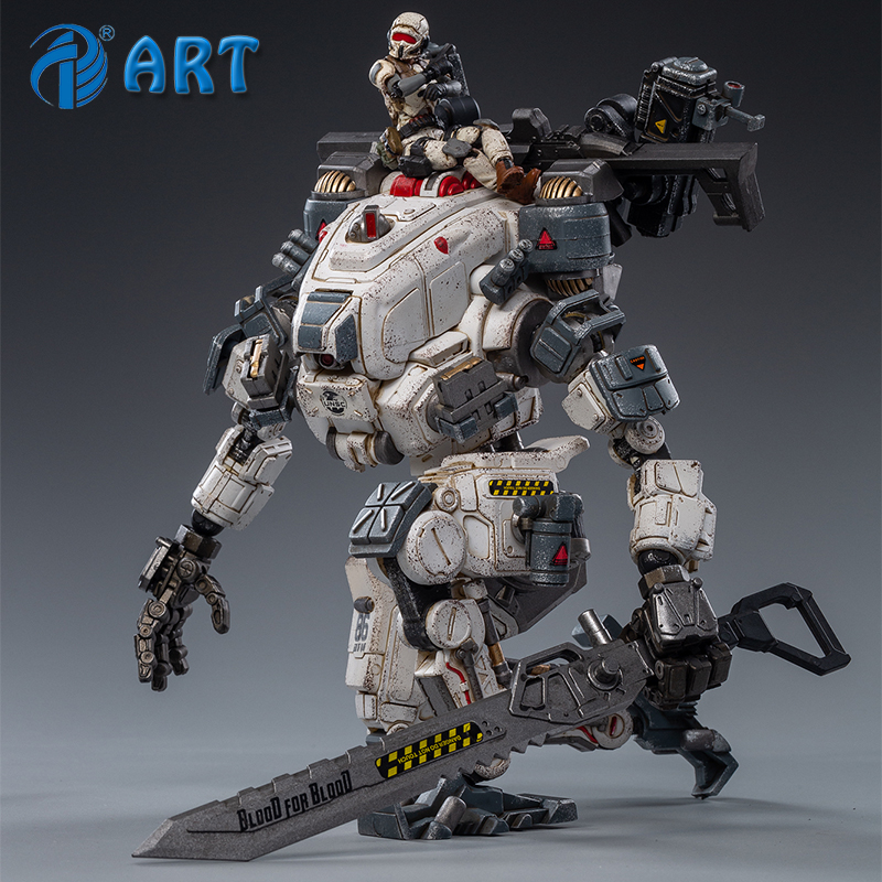 Joytoy deus da guerra 86 (branco) armadura mecânica figura de ação modelo revestido produto acabado frete grátis 1/25
