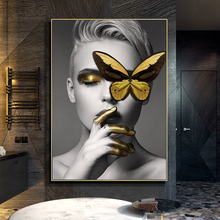 Simple character decorative painting bedroom beauty salon hanging SPA health club background mural art