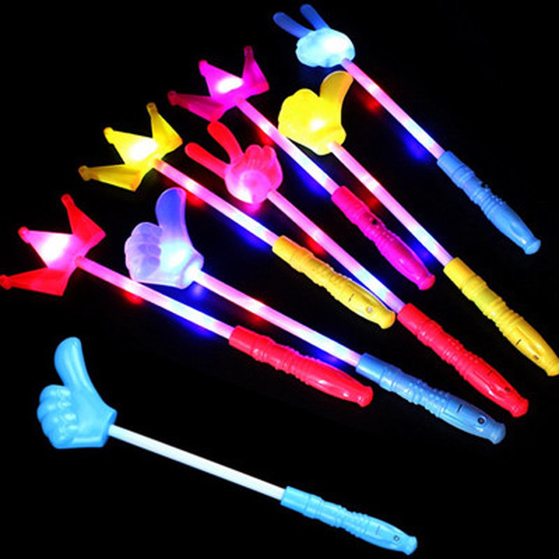 Creative Flashing LED Light Thumb Light Stick Crown Flash Stick Suitable For Concert Stage Festival Party Atmosphere Lighting