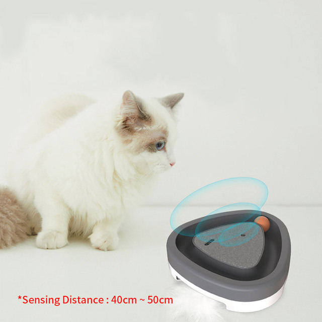 Smart Electric Automatic Kitten Toy With Fun Squeaky Ball 4